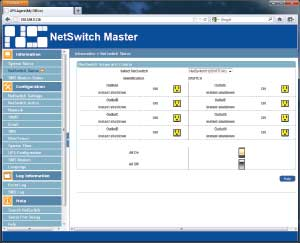 NetSwitch Web UI